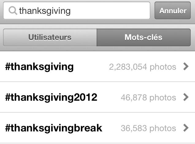 Thanksgiving Tag Instagram