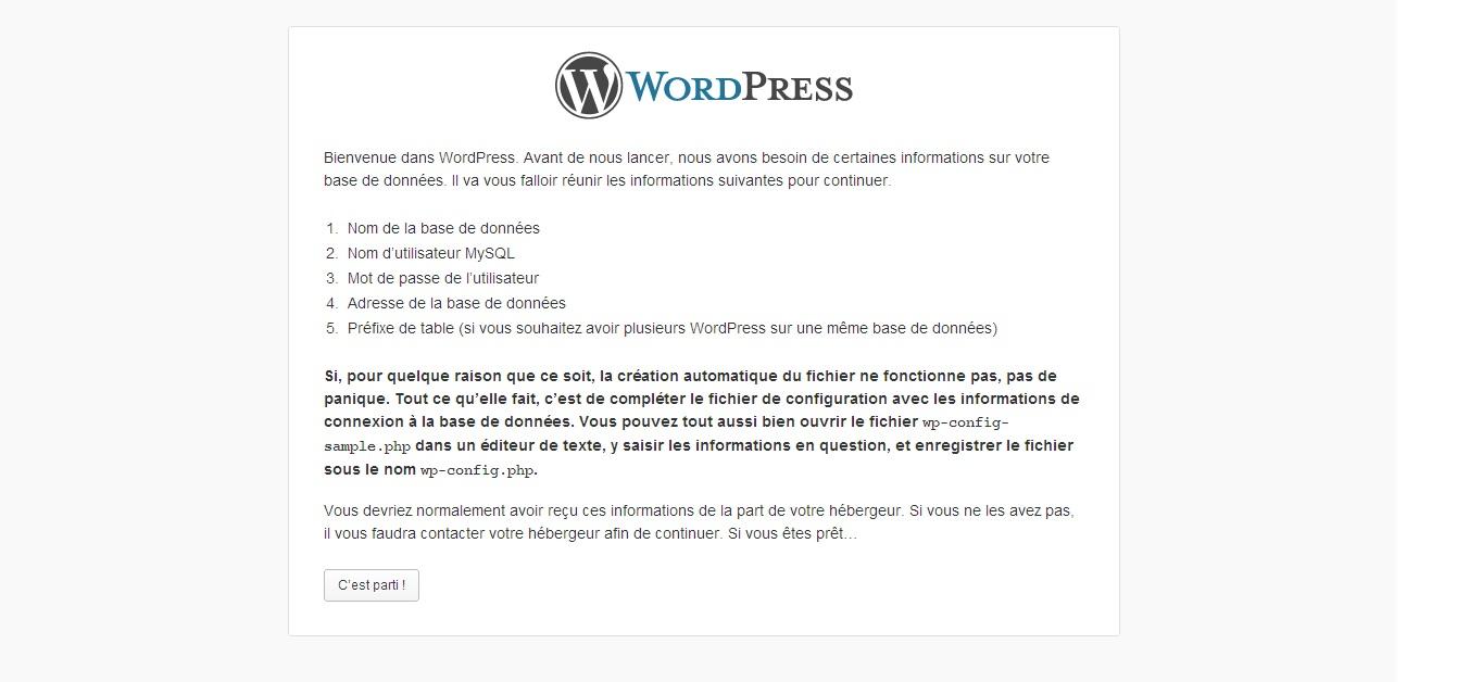 Installation Wordpress FTP